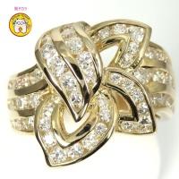 K18ゴールド ダイヤモンド 指輪 豪華 1.74ct