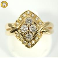 K18(ゴールド) ダイヤモンド 0.30ct 指輪 美品