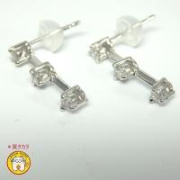 ☆新品 K18WG ホワイトゴールド ダイヤ ピアス