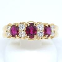 K18 ゴールド ルビー ダイヤモンド  指輪