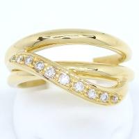 K18 ゴールド ダイヤモンド 0.14ct 指輪