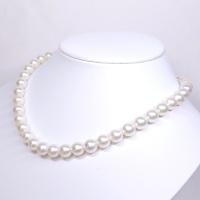 真珠 パール ネックレス 9-9.5mm 乳白色 大珠