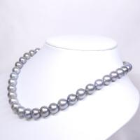 真珠 タヒチパール ネックレス グレー 8.1-10.8mm  大珠 美品