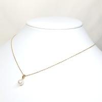 K18 ゴールド 真珠 約7.2ミリ  ペンダント付ネックレス
