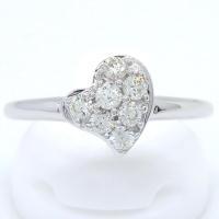 K18WG ホワイトゴールド  ダイヤモンド 0.28ct 指輪 ハート