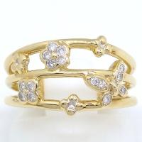 K18 ゴールド  ダイヤモンド 0.16ct 指輪