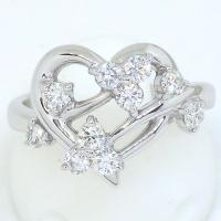 K18WG ホワイトゴールド  ダイヤモンド 0.50ct 指輪 ハート