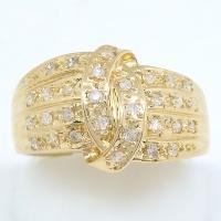 K18 ゴールド  ダイヤモンド 0.24ct 指輪