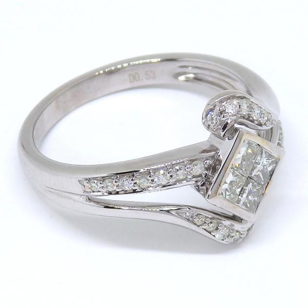 画像3: K18WG ホワイトゴールド ダイヤモンド  0.53ct 指輪