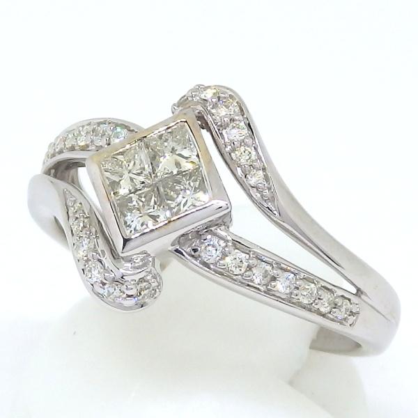 画像2: K18WG ホワイトゴールド ダイヤモンド  0.53ct 指輪