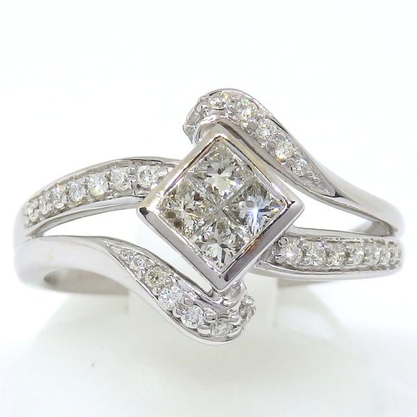 画像1: K18WG ホワイトゴールド ダイヤモンド  0.53ct 指輪