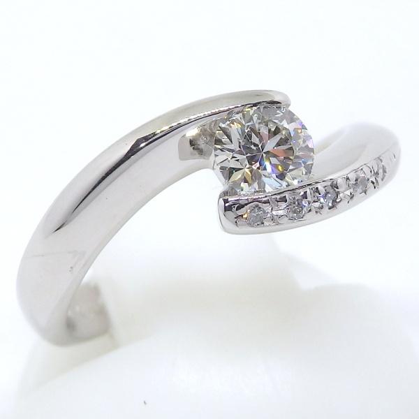 画像3: Pt900 プラチナ ダイヤモンド 0.333ct 0.03ct 指輪