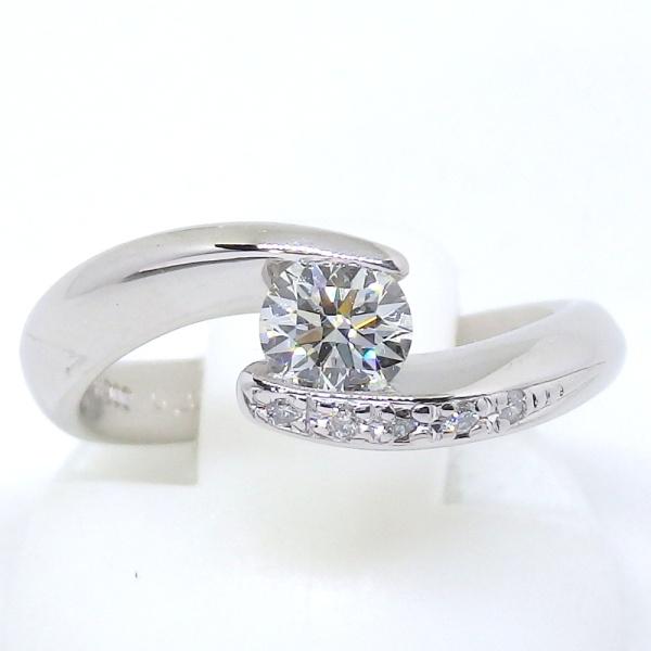 画像1: Pt900 プラチナ ダイヤモンド 0.333ct 0.03ct 指輪