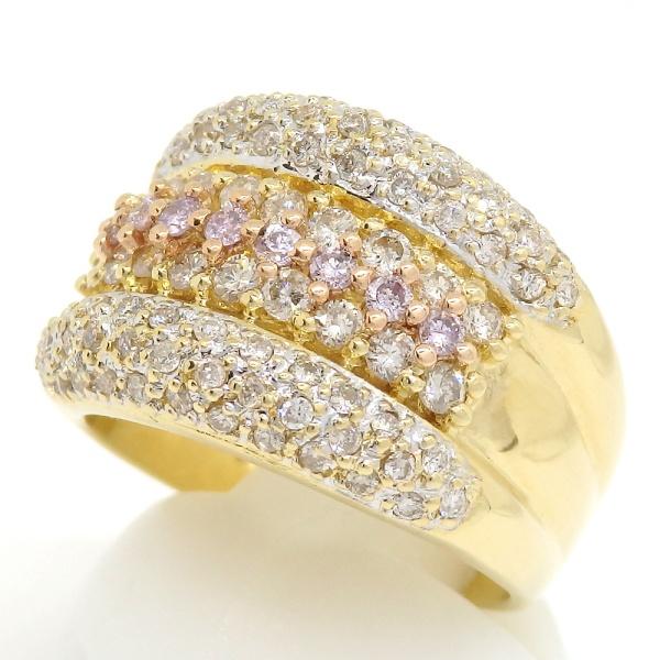 画像2: K18 ゴールド ダイヤモンド 1.00ct 指輪 PG ピンクゴールド ピンクダイヤ