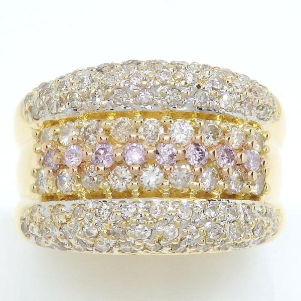 画像1: K18 ゴールド ダイヤモンド 1.00ct 指輪 PG ピンクゴールド ピンクダイヤ