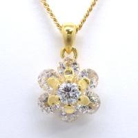 K18 ゴールド ダイヤモンド 1.00ct ペンダント付ネックレス