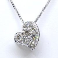 K18WG ホワイトゴールド ダイヤモンド 0.23ct ペンダントネックレス