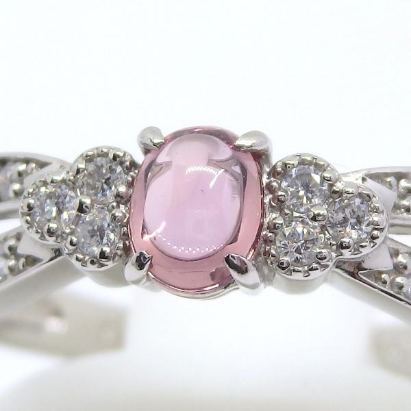 画像3: Pt900 プラチナ パパラチヤ・サファイア 0.423ct ダイヤモンド 0.14ct 指輪 鑑別書付