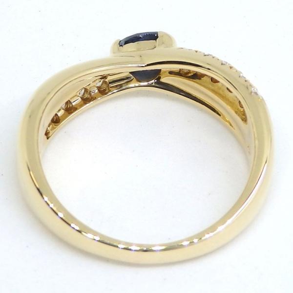 画像5: 【田崎真珠】タサキ K18 ゴールド サファイア 0.41ct ダイヤモンド 0.20ct 指輪