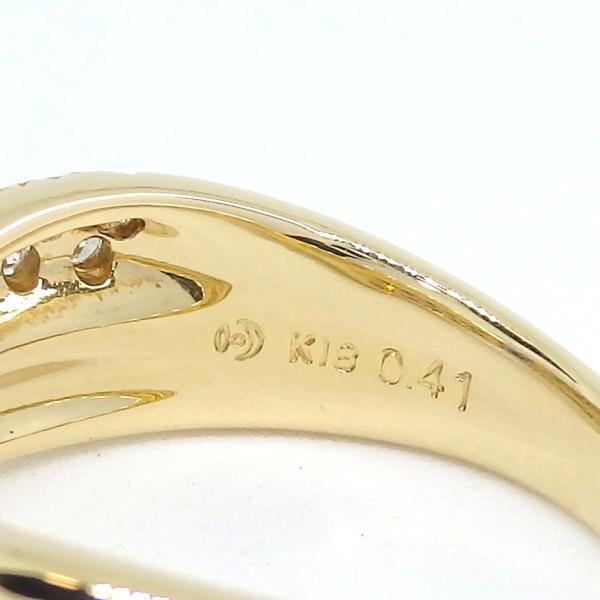 画像3: 【田崎真珠】タサキ K18 ゴールド サファイア 0.41ct ダイヤモンド 0.20ct 指輪