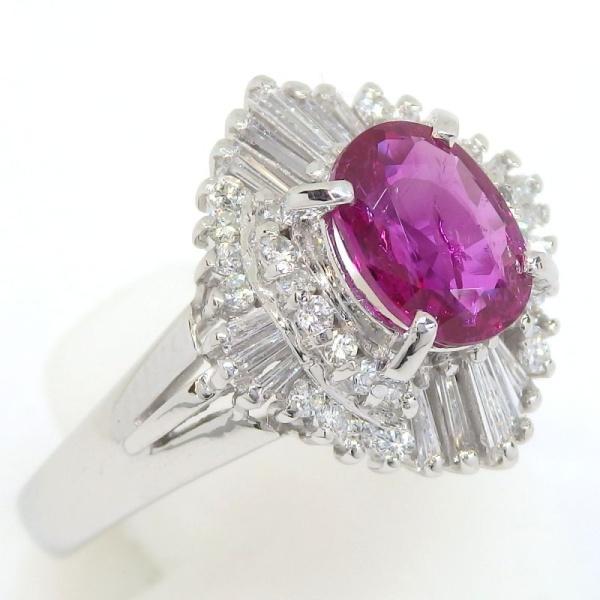 画像2: Pt900 プラチナ ルビー ダイヤモンド   指輪