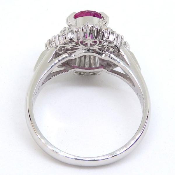 画像5: Pt900 プラチナ ルビー ダイヤモンド   指輪