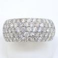 画像1: Pt900 プラチナ  ダイヤモンド 2.02ct 指輪 パヴェ (1)
