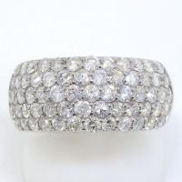 Pt900 プラチナ  ダイヤモンド 2.02ct 指輪 パヴェ