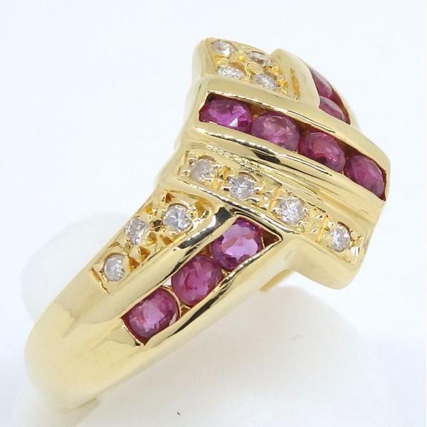画像3: K18 ゴールド ルビー ダイヤ 指輪