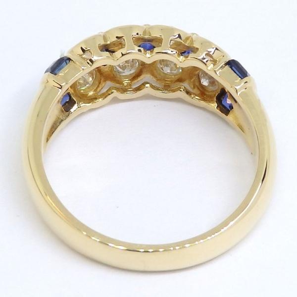 画像4: K18 ゴールド サファイア ダイヤモンド 指輪
