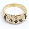 画像3: K18 ゴールド サファイア ダイヤモンド 指輪  (3)