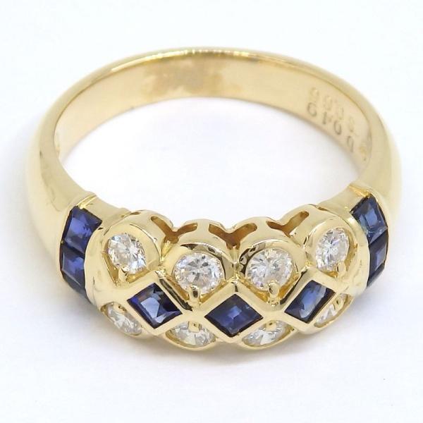画像3: K18 ゴールド サファイア ダイヤモンド 指輪