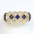 画像1: K18 ゴールド サファイア ダイヤモンド 指輪  (1)