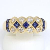 K18 ゴールド サファイア ダイヤモンド 指輪