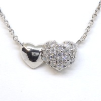 K18WG ホワイトゴールド ダイヤモンド 0.20ct ペンダントネックレス ハート