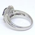 画像4: Pt900 プラチナ サファイア  ダイヤモンド 指輪 (4)