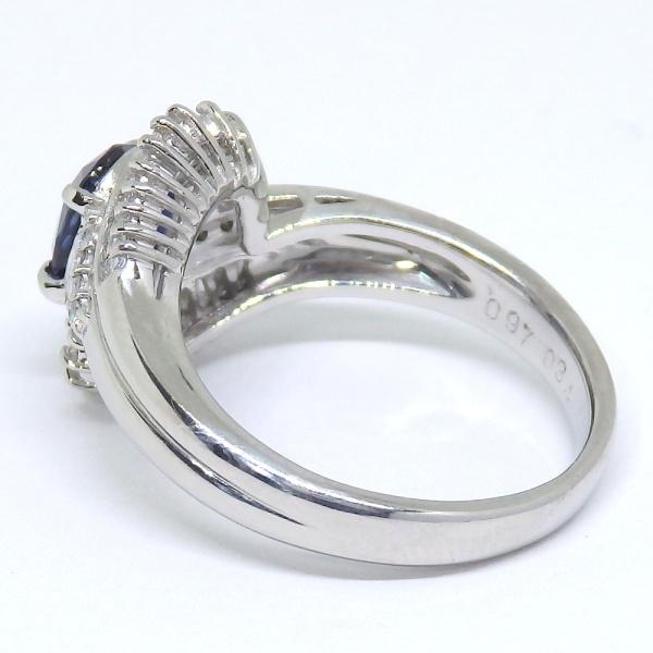 画像4: Pt900 プラチナ サファイア  ダイヤモンド 指輪