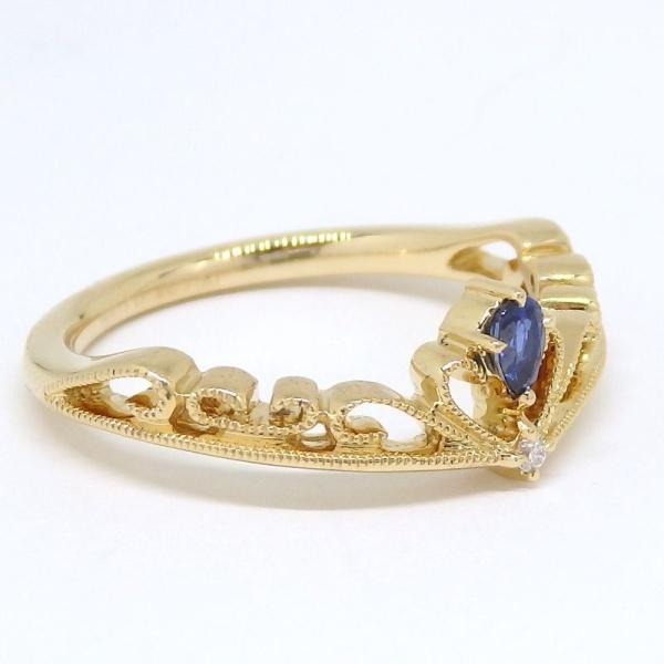 画像3: 【EAU DOUCE 4℃】オデュース ヨンドシー 750 ゴールド サファイアア ダイヤモンド  指輪 リング #11