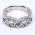 画像3: Pt900 プラチナ サファイア 0.47ct ダイヤモンド 0.20ct 指輪 美品 新品仕上済 #12 (3)