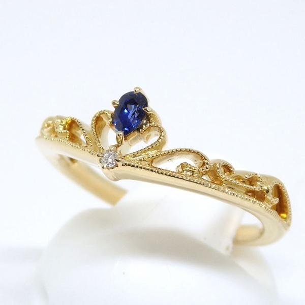 画像2: 【EAU DOUCE 4℃】オデュース ヨンドシー 750 ゴールド サファイアア ダイヤモンド  指輪 リング #11