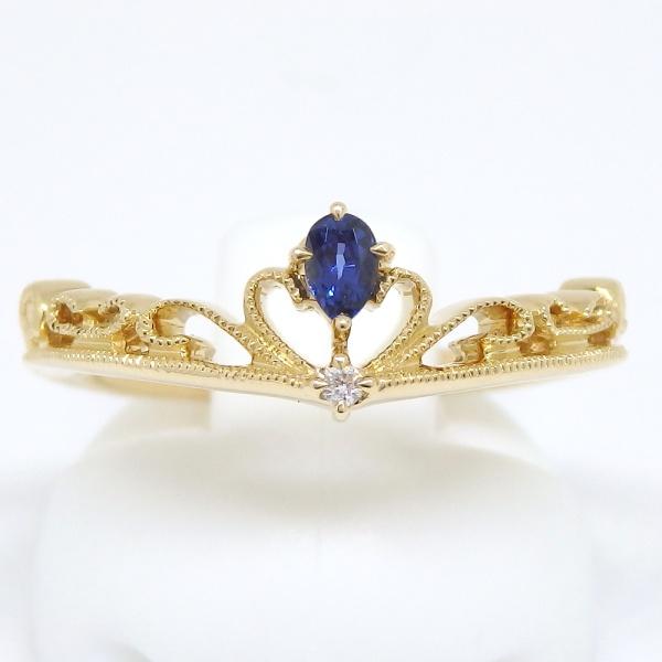 画像1: 【EAU DOUCE 4℃】オデュース ヨンドシー 750 ゴールド サファイアア ダイヤモンド  指輪 リング #11