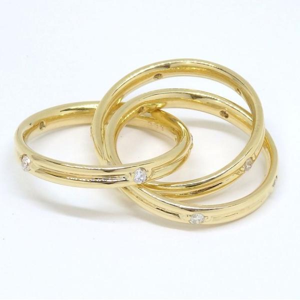 画像4: K18 ゴールド ダイヤモンド 0.55ct 指輪  3連リング