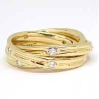 K18 ゴールド ダイヤモンド 0.55ct 指輪  3連リング